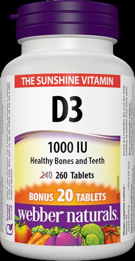 Picture of Webber Naturals Vitamin D3, 260 Tablets