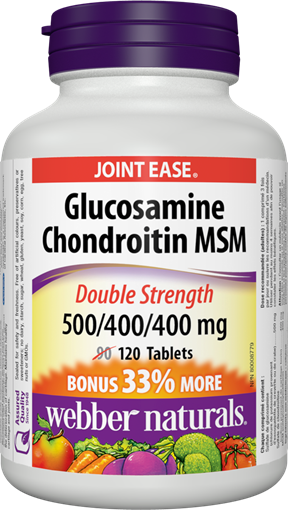 Picture of Webber Naturals Glucosamine Chondroitin MSM, 120 Tablets