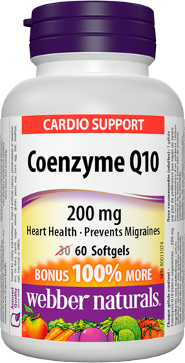 Picture of Webber Naturals Coenzyme Q10, 60 Capsules