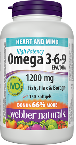 Picture of Webber Naturals Omega 3-6-9 High Potency, 150 Softgels