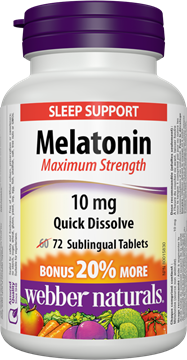 Picture of Webber Naturals Melatonin Maximum Strength, 72 Sublingual Tablets