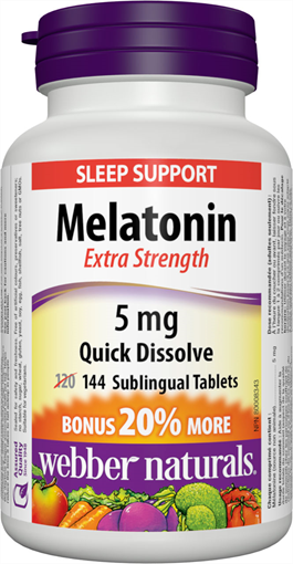 Picture of Webber Naturals Melatonin Extra Strength, 144 Sublingual Tablets
