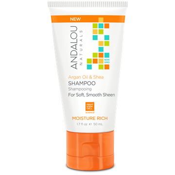 Picture of  Andalou Naturals Travel Shampoo, Argan Oil & Shea 50ml