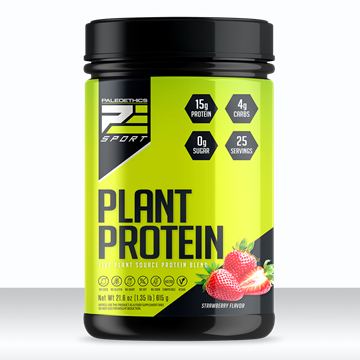 Picture of  PaleoEthics Plant Protein, Strawberry 615g