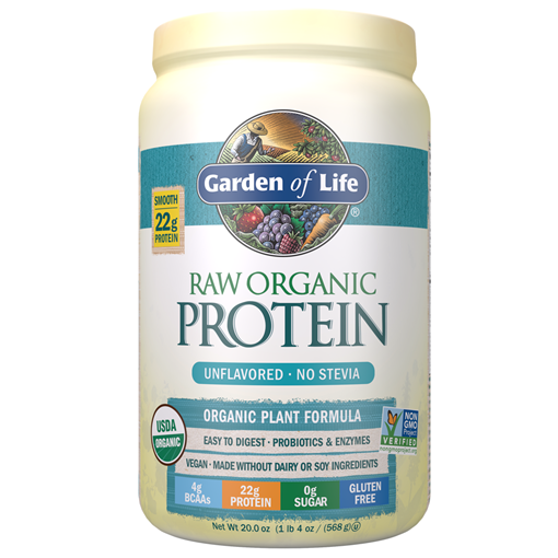 Picture of Garden of Life Organic Protein Powder Unflavoured, 568g