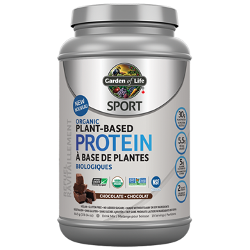 Picture of  Garden of Life SPORT Organic Plant Based Protein Chocolate, 806g