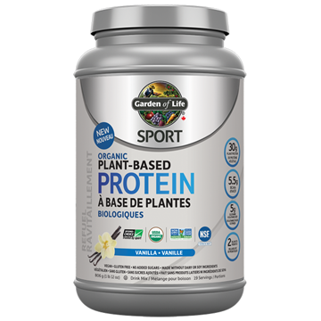 Picture of  SPORT Organic Plant Based Protein Vanilla, 806g