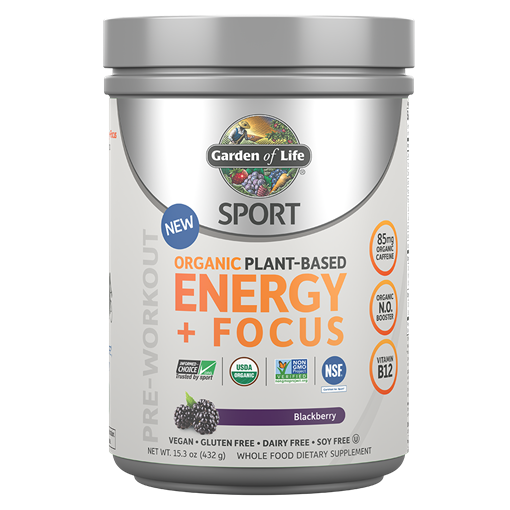 Picture of Garden of Life Organic Plant-Based Energy + Focus Blackberry, 432g