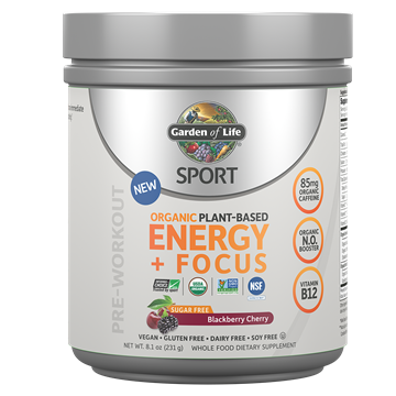 Picture of  Organic Plant-Based Energy + Focus Blackberry-Cherry Sugar-Free, 231g