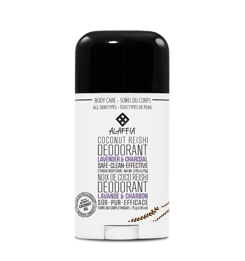 Picture of Alaffia Alaffia Coconut Reishi Deodorant, Lavender & Charcoal 75g