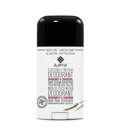 Picture of Alaffia Alaffia Coconut Reishi Deodorant, Bergamot & Charcoal 75g
