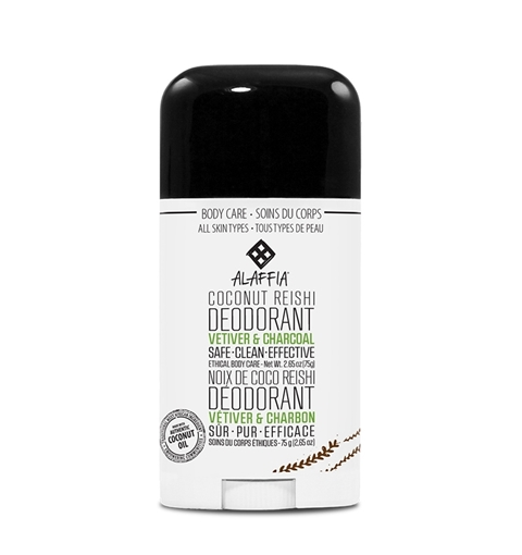 Picture of Alaffia Alaffia Coconut Reishi Deodorant, Vetiver & Charcoal 75g