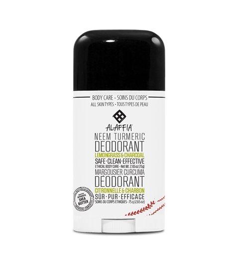 Picture of Alaffia Alaffia Neem Turmeric Deodorant, Lemongrass & Charcoal 75g