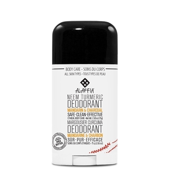 Picture of  Alaffia Neem Turmeric Deodorant, Mandarin & Charcoal 75g