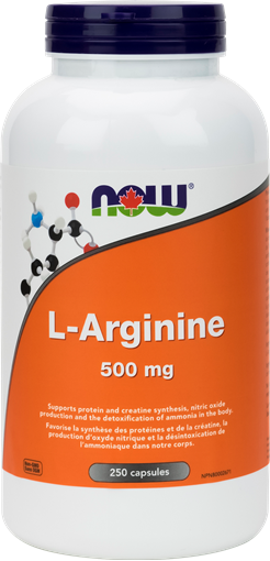 Picture of NOW Foods NOW Foods L-Arginine 500mg, 250 Capsules