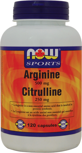 Picture of NOW Foods NOW Foods Arginine 500mg and Citrulline 250mg, 120 Capsules