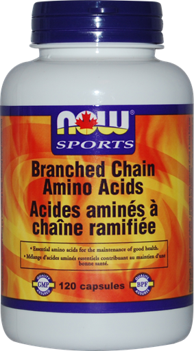 Picture of NOW Foods NOW Foods Branched Chain Amino Acids, 120 Capsules