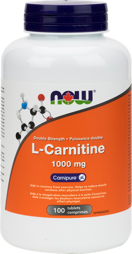 Picture of NOW Foods NOW Foods  L-Carnitine 1000mg, 100 Tablets
