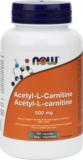 Picture of NOW Foods NOW Foods Acetyl L-Carnitine 500mg, 100 Capsules
