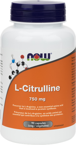 Picture of NOW Foods L-Citrulline 750mg, 90 Veg Capsules