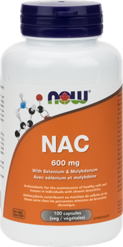 Picture of  NAC 600mg, 100 Veg Capsules
