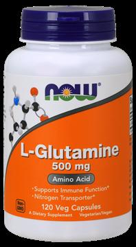 Picture of  L-Glutamine 500mg, 120 Veg Capsules