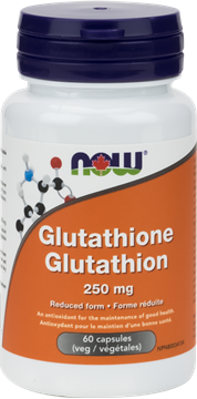 Picture of NOW Foods Glutathione 250mg, 60 Veg Capsules