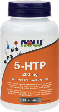 Picture of NOW Foods 5-HTP 200mg + Tyrosine, 60 Capsules