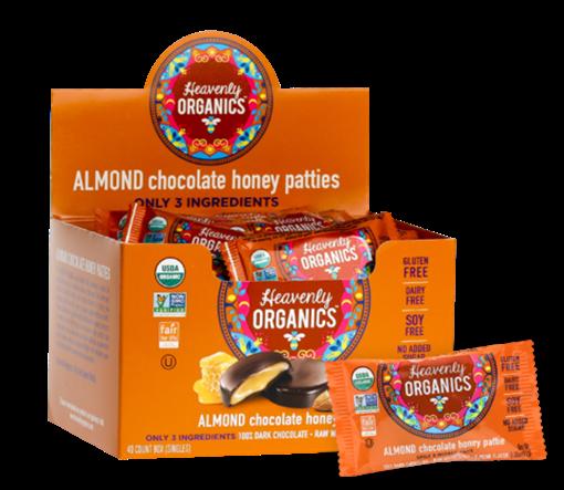 Picture of Heavenly Organics Almond Chocolate Honey Patties, 40x11g