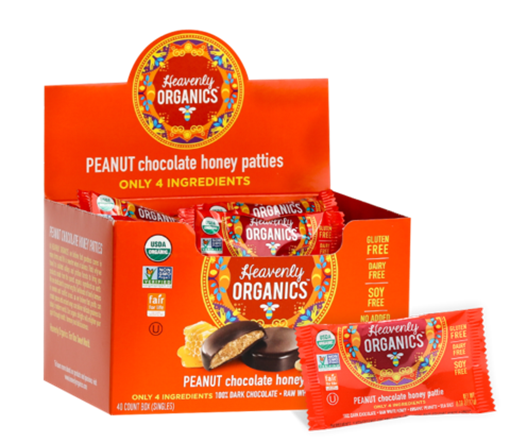 Picture of Heavenly Organics Peanut Chocolate Honey Patties, 40x11g