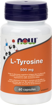 Picture of  L-Tyrosine 500mg, 60 Capsules
