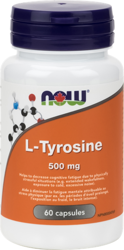 Picture of NOW Foods L-Tyrosine 500mg, 60 Capsules