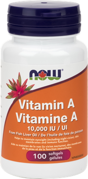 Picture of  Vitamin A 10,000 IU, 100 Softgels