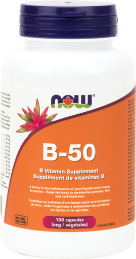 Picture of NOW Foods B-50 Complex, 100 Veg Capsules