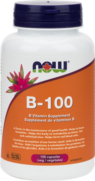 Picture of NOW Foods B-100 Complex, 100 Veg Capsules