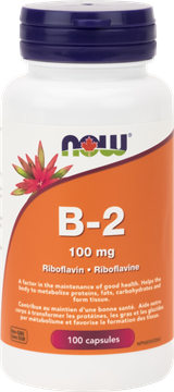 Picture of NOW Foods Vitamin B-2 100mg, 100 Capsules