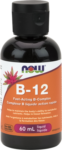 Picture of NOW Foods Liquid B-12 B-Complex, 60ml