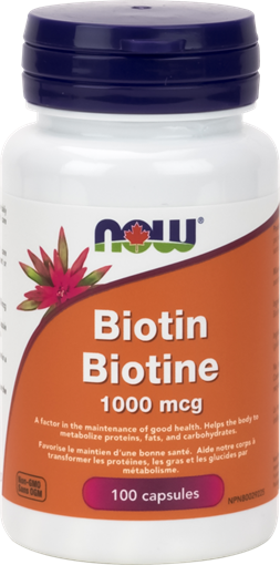 Picture of NOW Foods Biotin 1,000mcg, 100 Capsules