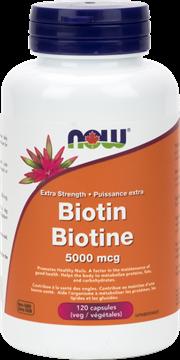 Picture of  Biotin 5,000 mcg, 120 Veg Capsules