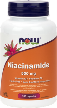 Picture of NOW Foods Niacinamide 500mg, 100 Capsules