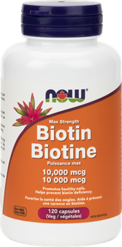 Picture of NOW Foods Biotin 10,000 mcg, 120 Veg Capsules