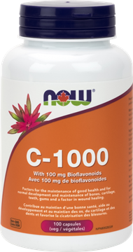 Picture of NOW Foods C-1000 with 100mg Bioflavonoids, 100 Capsules