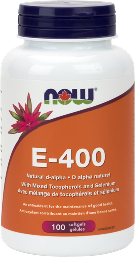 Picture of NOW Foods NOW Foods E-400 IU with Selenium, 100 Softgels
