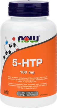 Picture of NOW Foods 5-HTP 100mg, 120 Veg Capsules