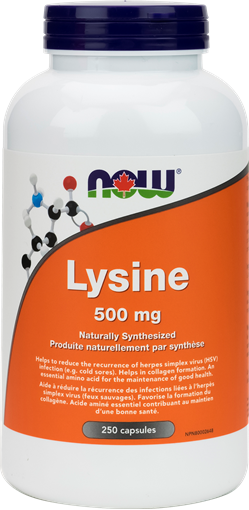 Picture of NOW Foods L-Lysine 500mg, 250 Capsules