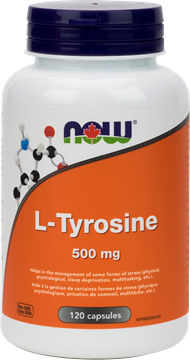 Picture of NOW Foods L-Tyrosine 500mg, 120 Capsules