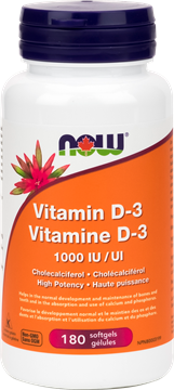 Picture of  Vitamin D-3 1,000 IU, 180 softgels