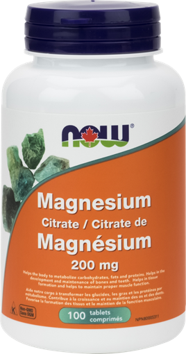 Picture of NOW Foods Magnesium Citrate 200mg, 100 Tablets