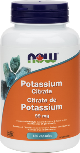 Picture of NOW Foods Potassium Citrate 99mg, 180 Capsules