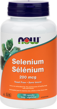 Picture of  NOW Foods Selenium 200mcg, 180 Capsules